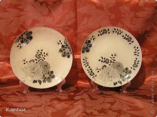 тарелочки для компании часам и зеркалу