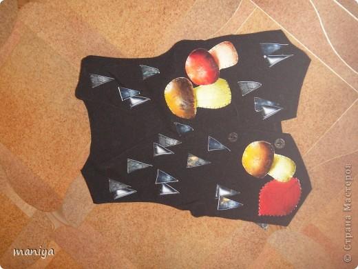 Мастер-класс Новый год Аппликация Шитьё костюм ежика - делаем за вечер  Бумага Листья Мех Овощи фрукты ягоды фото 1