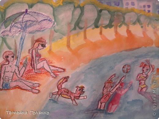 Внеклассная работа Рисование и живопись Конкурс рисунков За здоровый образ жизни Акварель фото 4