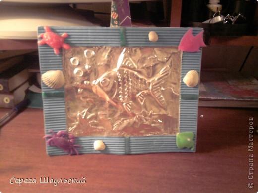 """С тех пор как я поселился в """"Стране Мастеров"""" постоянно нахожу у себя что - нибудь в кладовке. Вот моя очередная работа. Рыбка, конечно, не золотая (хотя, если вы посмотрите мой профиль, вы у меня таковую найдете), но аллюминий тоже как - никак цветной металл))))))))"""