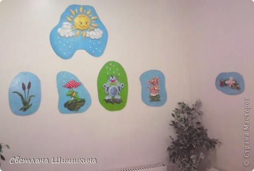 Попробовала немного украсить раздевалку бассейна в детском саду куда ходит моя доча. Вот что получилось... фото 1