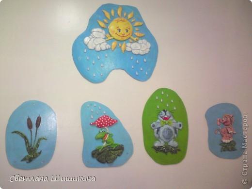 Попробовала немного украсить раздевалку бассейна в детском саду куда ходит моя доча. Вот что получилось... фото 2