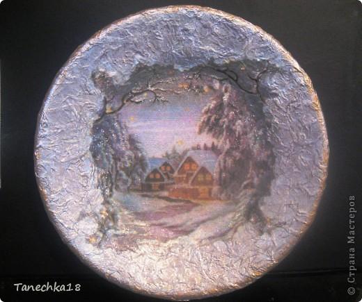 """Вот и я наконец-то начала подготовку к предстоящим зимним праздникам! Моя первая тарелочка, так сказать """"проба пера"""". фото 1"""