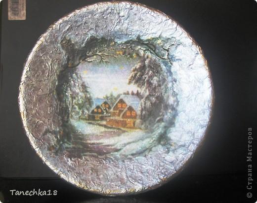 """Вот и я наконец-то начала подготовку к предстоящим зимним праздникам! Моя первая тарелочка, так сказать """"проба пера"""". фото 2"""