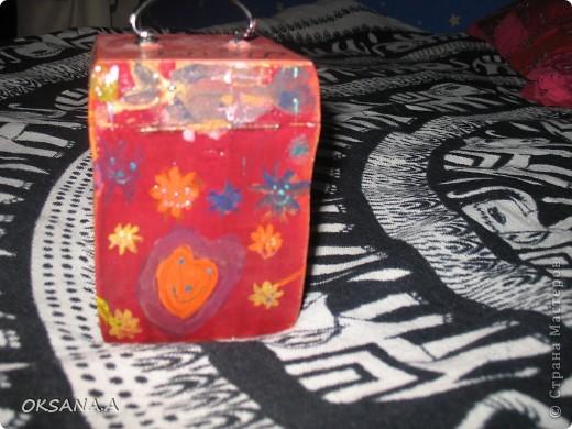 Вот такую шкатулочку для украшений мы росписали красками вместе со старшей дочкой. фото 4