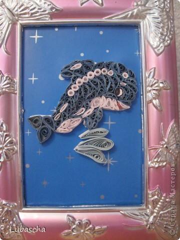 """Моя первая картина """"Дельфин"""""""