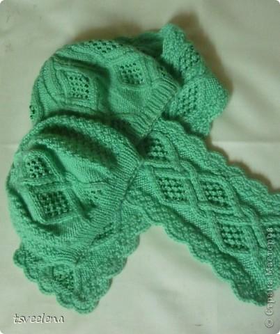 Комплект шапочки и шарфик фото 1