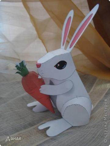 Возможно, кому-то пригодится идея создания такой поделки в связи с грядушим годом кролика :-) фото 1