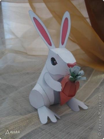 Возможно, кому-то пригодится идея создания такой поделки в связи с грядушим годом кролика :-) фото 2