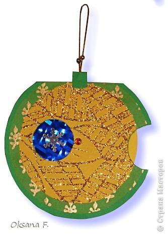 """Новогодняя открытка """"шар-калейдоскоп"""" фото 1"""