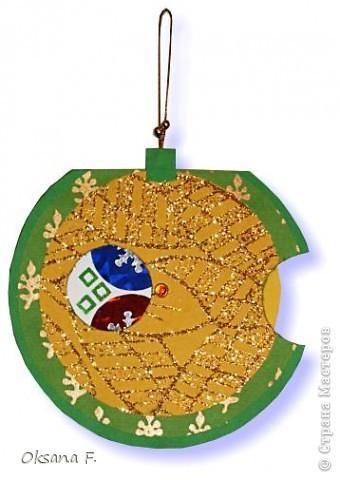 """Новогодняя открытка """"шар-калейдоскоп"""" фото 2"""