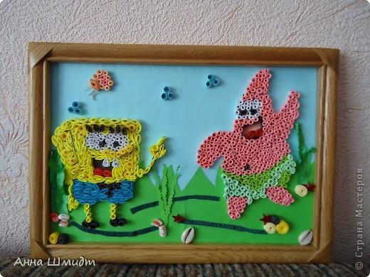 Картину делала для маленькой девочки на 2 годика. Она очень любит этих героев.