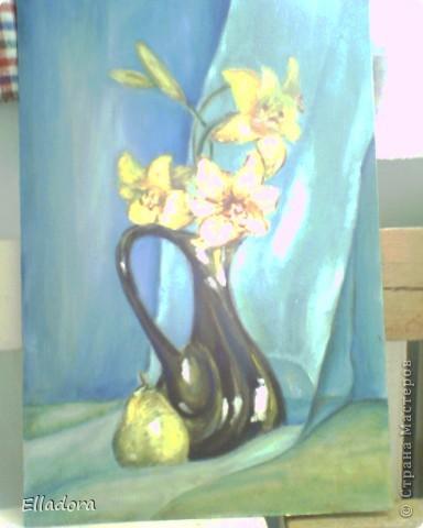 Лилии (Масло, холст - грунтованный лист ДВП) фото 1
