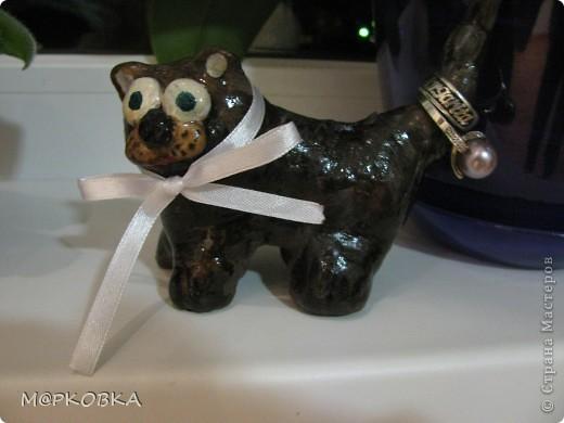 Вот решила сделать для себя котенка-держатель для колец.Вдохновила ANAIDA,  фото 2