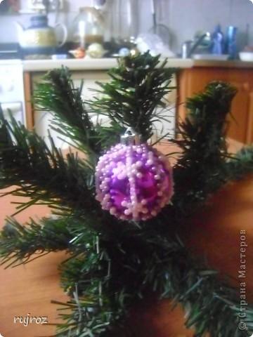 Игрушка Новый год Бисероплетение Новогодние шары Бисер фото 8