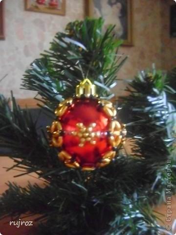 Игрушка Новый год Бисероплетение Новогодние шары Бисер фото 6