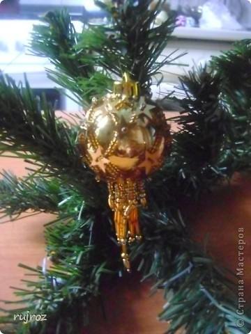Игрушка Новый год Бисероплетение Новогодние шары Бисер фото 4