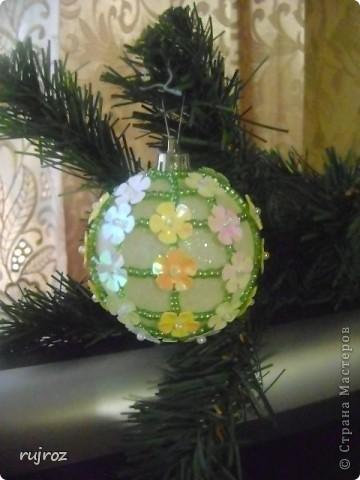 Игрушка Новый год Бисероплетение Новогодние шары Бисер фото 5