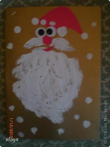 Эту открытку  я придумала сама из обрезков ткани. фото 5