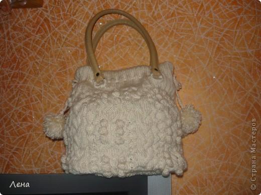 Біла сумка з аранами