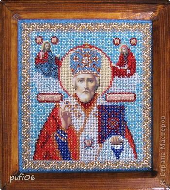 Икона Казанской Пресвятой Богородицы, вышивание бисером фото 3