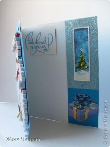Еще одна открыточка со снеговиком к Новому Году  фото 2