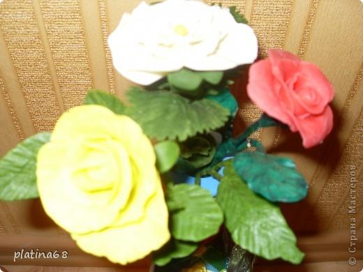 Цветы из холодного фарфора. фото 2