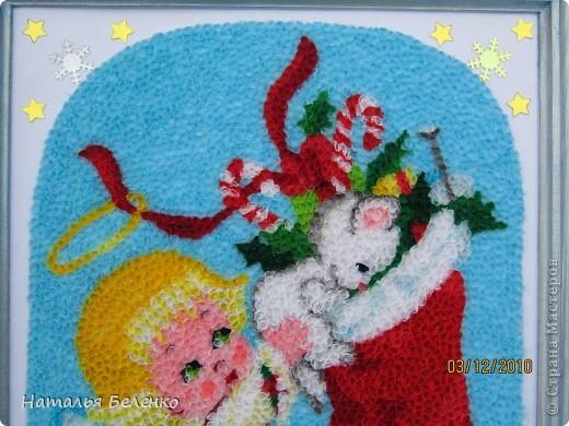 Здравствуйте уважаемые жители Страны Мастеров! Представляю на ваш суд очередную новогодне-рождественскую торцовочку. Размер работы 20*30 см. фото 9