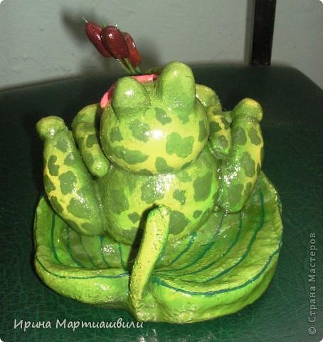 Лягушка с камышами фото 3