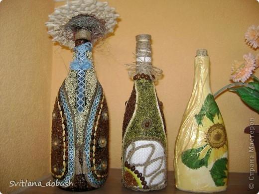бутилки з різної крупи