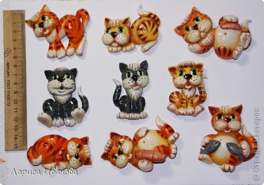 Вот такие симпатичные котята будут жить на холодильниках своих новых хозяев  в будущем году))) фото 1