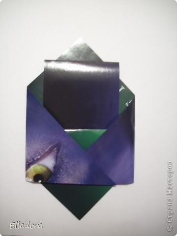 Мастер - класс на открытку конверт голубую фото 12