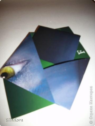 Мастер - класс на открытку конверт голубую фото 1