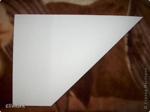 Мастер - класс на открытку конверт голубую фото 3