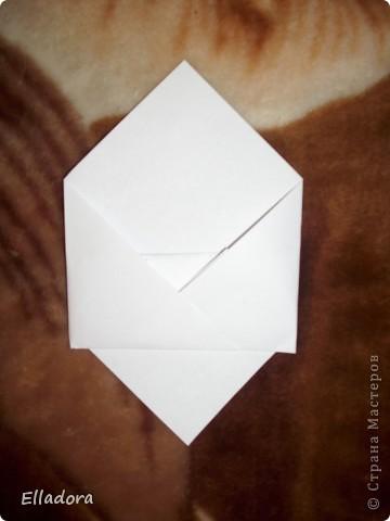 Мастер - класс на открытку конверт голубую фото 8