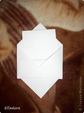 Мастер - класс на открытку конверт голубую фото 11