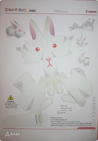 На просторах Интернета нашла схему сборки еще одного кролика. Поделка очень простая и легко может быть выполнена детьми. фото 2