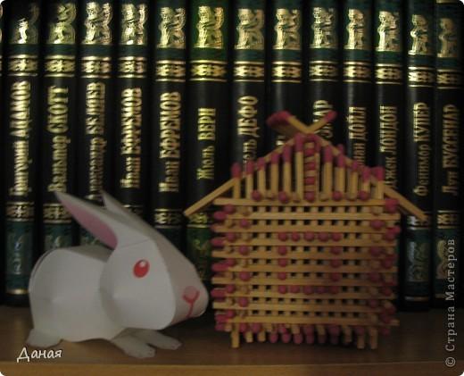 На просторах Интернета нашла схему сборки еще одного кролика. Поделка очень простая и легко может быть выполнена детьми. фото 1