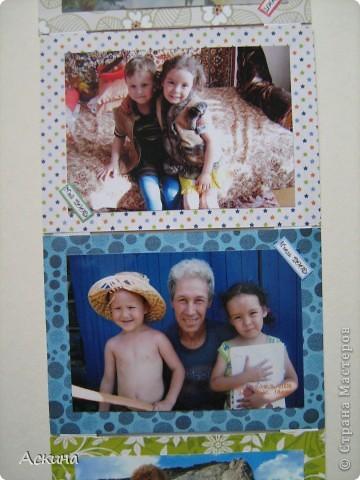 Такой альбомчик я сделала,своим родителям на память об их внуках. Такая идея пришла в голову,благодаря фотографиям скопившемся в шкафу. Альбомчик в форме раскладушки. фото 10