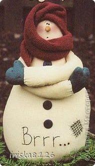 На улице холодно и снежно… Хочется праздника, поэтому решила пошить такого снеговичка. фото 29