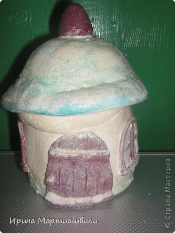 Домик зимой. (шкатулка) фото 1