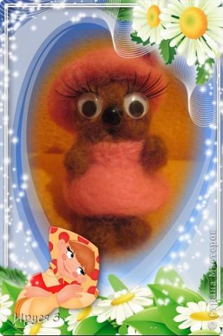Кошечка - валяшечка (игрушку сваляла моя 8-летняя доченька Маришка ) фото 5