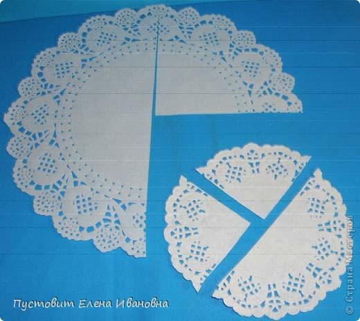 Ангелок из бумажных  кондитерских салфеток :)))  фото 2
