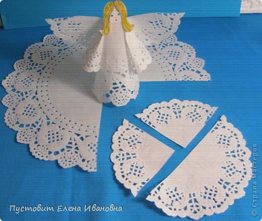 Ангелок из бумажных  кондитерских салфеток :)))  фото 3