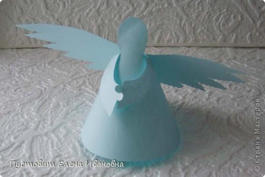 Ангелок из бумажных  кондитерских салфеток :)))  фото 13