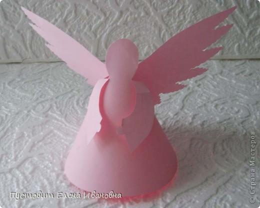 Ангелок из бумажных  кондитерских салфеток :)))  фото 14