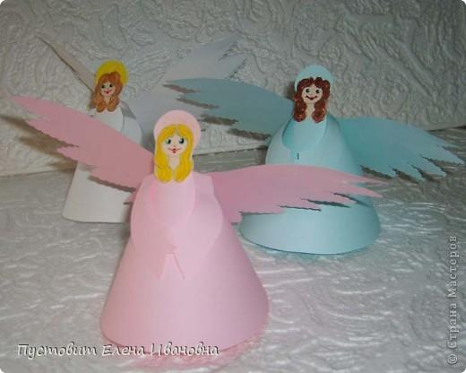 Ангелок из бумажных  кондитерских салфеток :)))  фото 7