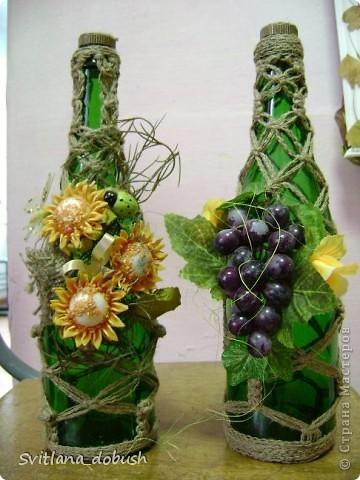 Декор бутилок фото 1