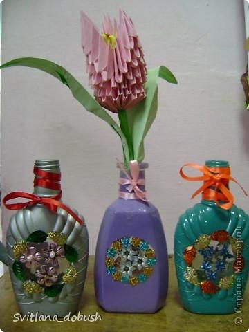 Декор бутилок фото 4
