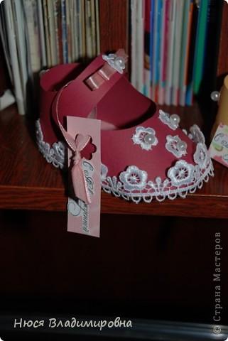 Парад пинеток - эти пинеточки очень распространены в Стране Мастеров, делаются быстро и с большим удовольствием!  В такие башмачки можно положить денежку, маленький подарочек или просто подарить в качестве открытки. Эту партию обуви - приготовила на продажу - надеюсь что каждая найдет своего малыша!  фото 5